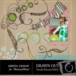 Drawn Out Doodles Embellishment Pack-$2.09 (Krista Sahlin)
