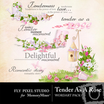 Tender as a rose wordart small