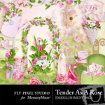 Tender as a Rose Embellishment Pack-$2.99 (Fly Pixel Studio)