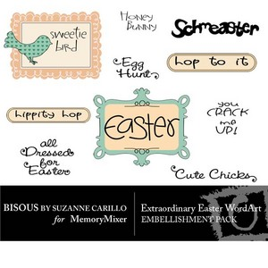 Extraordinary easter wordart medium