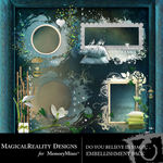 Do You Believe in Magic Clusters Blue-$1.99 (MagicalReality Designs)