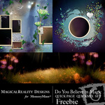 Do You Believe Magic QuickPage QuickMix Freebie-$0.00 (MagicalReality Designs)