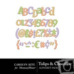 Tulips and Chocolate Alphabet Pack-$3.49 (Carolyn Kite)