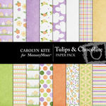 Tulips and Chocolate Paper Pack-$3.99 (Carolyn Kite)