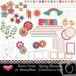 Spring Blossom Embellishment Pack-$2.99 (Karen Lewis)