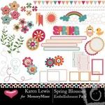 Spring Blossom Embellishment Pack-$1.50 (Karen Lewis)