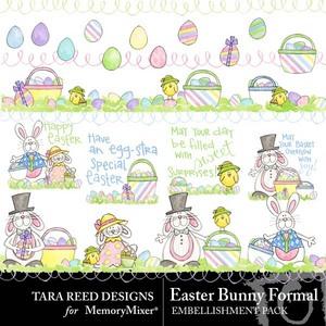 Easter bunny formal emb medium