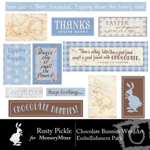 Chocolate bunnies wordart medium