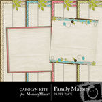 Family Matters Stacked Paper Pack-$2.49 (Carolyn Kite)