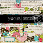 Family Matters Embellishment Pack-$2.99 (Carolyn Kite)