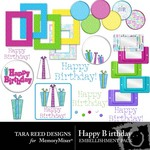 Happy Birthday Embellishment Pack-$2.99 (Tara Reed Designs)
