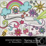 Spring a ling Embellishment Pack DBK-$1.50 (Designs by Krista)
