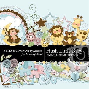 Hush little baby emb medium