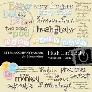 Hush little baby wordart medium