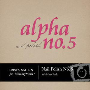 Nail polish no 5 alpha medium