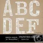 Painted Alphabet Pack-$2.00 (Krista Sahlin)
