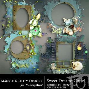 Sweet dreams cutie blue clusters medium