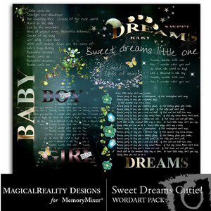 Sweet dreams cutie wordart medium