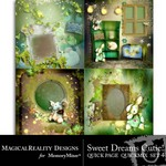 Sweet Dreams Cutie Quick Page QuickMix Set 4-$2.99 (MagicalReality Designs)