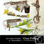Gone Fishing Cluster Pack-$1.49 (Fly Pixel Studio)