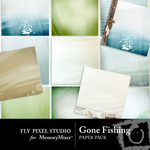 Gone Fishing Paper Pack 1-$3.99 (Fly Pixel Studio)