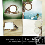 Gone Fishing Quick Page QuickMix Set-$2.99 (Fly Pixel Studio)