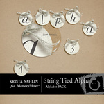 String Tied Alphabet Pack-$2.49 (Krista Sahlin)