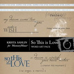 So This is Love WordArt Pack-$1.79 (Krista Sahlin)