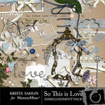 So This is Love Embellishment and Alphabet Pack-$3.99 (Krista Sahlin)