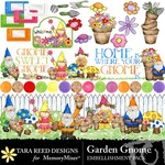Gnome Garden Embellishment Pack-$2.99 (Tara Reed Designs)