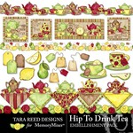 Hip to Drink Tea Embellishment Pack-$2.99 (Tara Reed Designs)