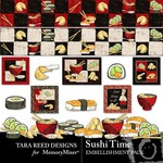 Sushi Time Embellishment Pack-$2.49 (Tara Reed Designs)