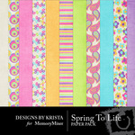 Spring To Life Paper Pack-$2.99 (Designs by Krista)