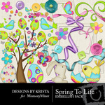 Spring To Life Embellishment Pack-$1.50 (Designs by Krista)
