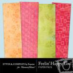 Feeling Happy Too Paper Pack-$1.99 (Ettes and Company by Fayette)