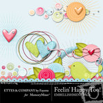 Feeling Happy Too Embellishment Pack-$2.99 (Ettes and Company by Fayette)