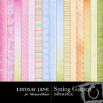 Spring Garden Paper Pack-$3.99 (Lindsay Jane)