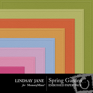 Spring garden embossed pp medium