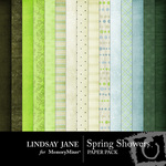 Spring Showers Paper Pack-$3.99 (Lindsay Jane)