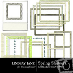 Spring showers emb frames small