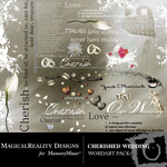 Cherished wedding wordart small