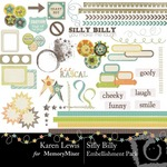 Silly Billy Embellishment Pack-$2.99 (Karen Lewis)
