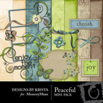 Peaceful Mini Pack-$3.99 (Designs by Krista)