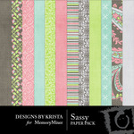 Sassy Paper Pack-$3.99 (Designs by Krista)