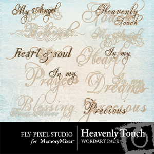 Heavenly touch wordart medium