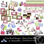 Shoes Gone Wild Embellishment Pack-$2.99 (Tara Reed Designs)