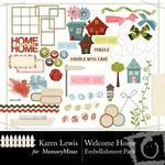Welcome Home Embellishment Pack-$2.99 (Karen Lewis)
