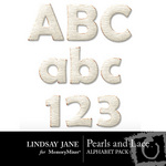 Pearls and Lace Alphabet Pack-$1.49 (Lindsay Jane)