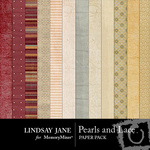 Pearls and Lace Paper Pack-$3.99 (Lindsay Jane)