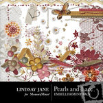 Pearls and Lace Embellishment Pack-$3.49 (Lindsay Jane)